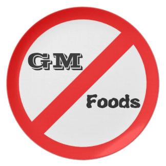 GM無し-遺伝的に変更された食糧プレート プレート