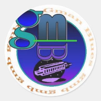 Gmanの青のロゴのステッカー ラウンドシール