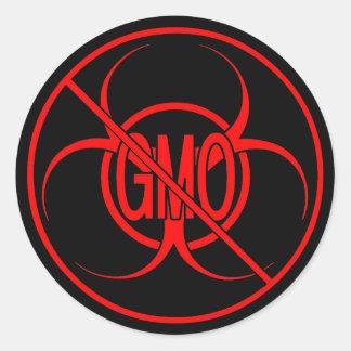 GMOのステッカーを警告するGMOのステッカーの生物学的災害[有害物質]無し ラウンドシール