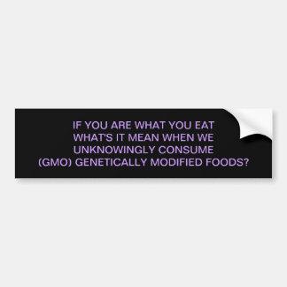 GMO -それはであるものが夕食のためです バンパーステッカー