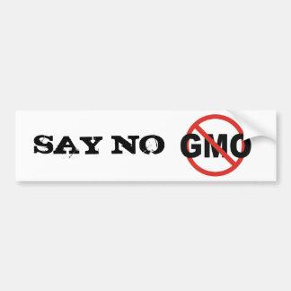 GMO バンパーステッカー