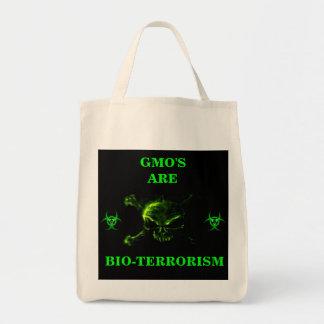 GMO'Sはバイオテロのオーガニックなトートです トートバッグ