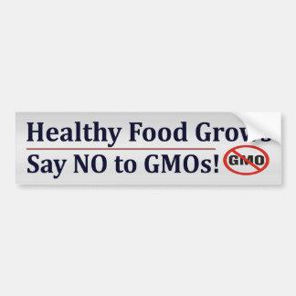 GMO'Sを拒否して下さい バンパーステッカー
