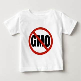 GMOs無しアンチGMO ベビーTシャツ