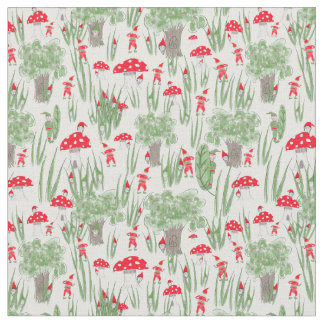 "Gnome Fabric: ""Gnome Hide-and-Seek"" ファブリック"