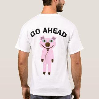 GO AHEAD 豚 Tシャツ