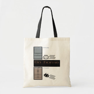 """GO HOME""tote bag トートバッグ"