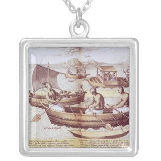 Goaのボート シルバープレートネックレス