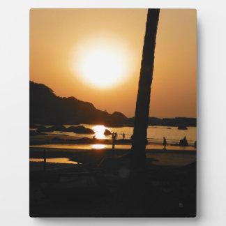 Goaの日没 フォトプラーク