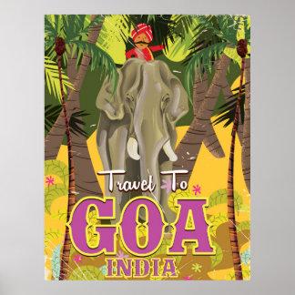 Goaインドのヴィンテージ旅行ポスター ポスター