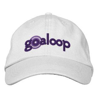 Goaloopは白い帽子を刺繍しました 刺繍入りキャップ