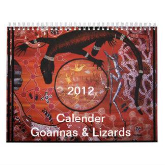 Goannas及びトカゲ2012のカレンダー カレンダー