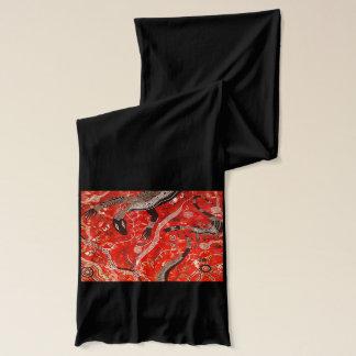 Goannas赤いジャージーのスカーフ スカーフ