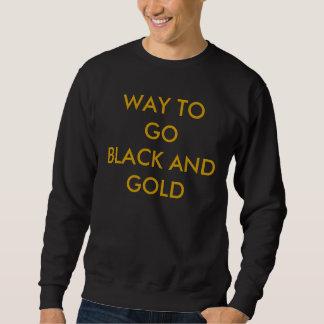 GOBLACKおよび金ゴールドへの方法 スウェットシャツ