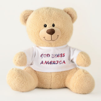 God bless america stuffed Teddy Bear テディベア