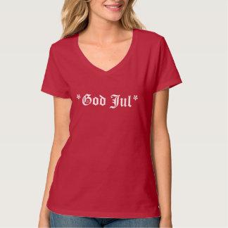 GodJulのメリークリスマスのスカンジナビアの挨拶 Tシャツ