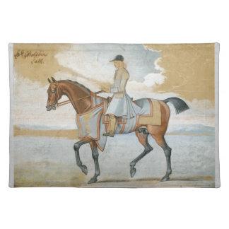 Godolphinのアラビアの純血種の馬Tablemat ランチョンマット
