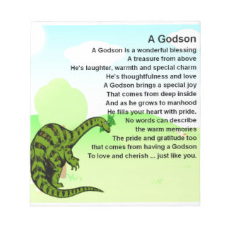 Godsonの詩-恐竜のデザイン ノートパッド