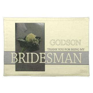 GodsonのBridesmanは感謝していしています ランチョンマット