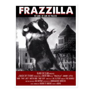 Godzilla猫の郵便はがき ポストカード