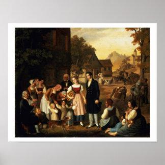Goetheの「HermannからのDorotheaの告別は、 ポスター