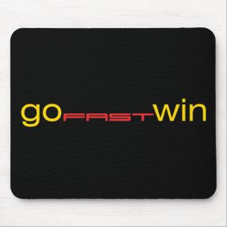 GoFastWinターボ-黒いマウスパッド マウスパッド