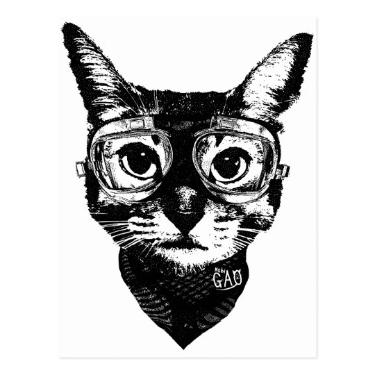 Goggles Cat ポストカード