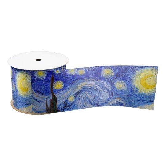 "Gogh , ""Starry Night"" サテンリボン"