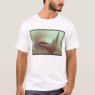 Gokstadのlongship (木) tシャツ