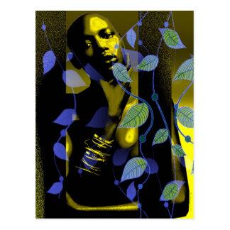 Goldアフリカの女性 ポストカード
