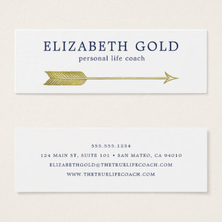 Gold Arrow Business Card スキニー名刺