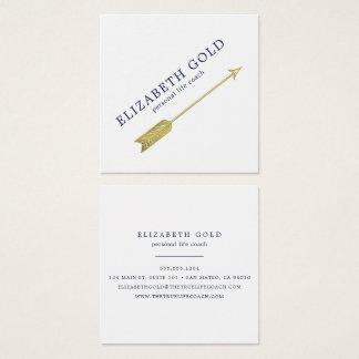 Gold Arrow Business Card スクエア名刺