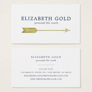 Gold Arrow Business Card 名刺