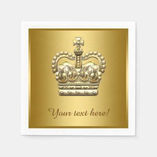 Gold Crown王室のな王子王 スタンダードカクテルナプキン