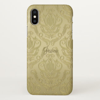 Gold Damask iPhone X Case iPhone X ケース
