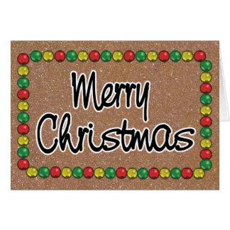 Gold Glitter Bead Christmas Card カード