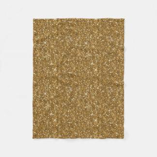 Gold Glitter Pattern ID144 フリースブランケット