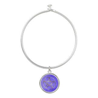Gold Pentagram Star Occult Bangle Bracelet バングルブレスレット