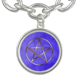 Gold Pentagram Star Occult Bracelet チャームブレスレット