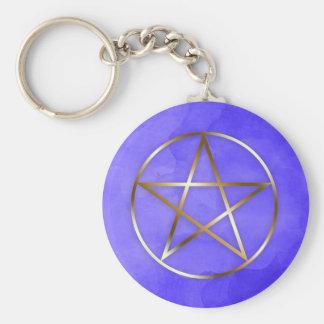 Gold Pentagram Star Occult Key Chain キーホルダー