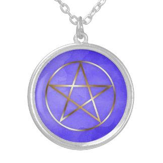 Gold Pentagram Star Occult Necklace シルバープレートネックレス