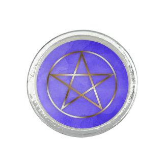 Gold Pentagram Star Occult Ring リング
