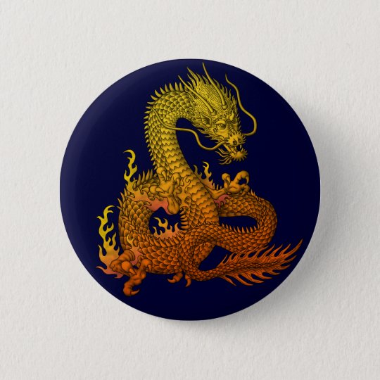 Gold ryuu 5.7cm 丸型バッジ