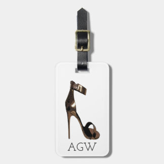 Gold stiletto sandles with your monogram ラゲッジタグ
