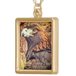 Golden Eagle [Square Necklace] ゴールドプレートネックレス