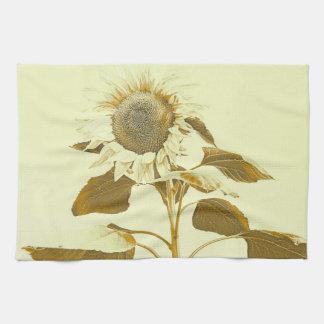 Golden Rayed Sunflower Kitchen Towel キッチンタオル