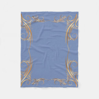 Golden Swirl Illustration Fleece Blanket フリースブランケット