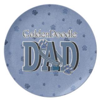 GoldenDoodleのパパ プレート