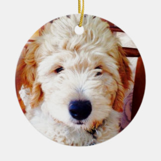 Goldendoodleの子犬 セラミックオーナメント