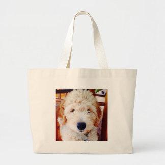Goldendoodleの子犬 ラージトートバッグ